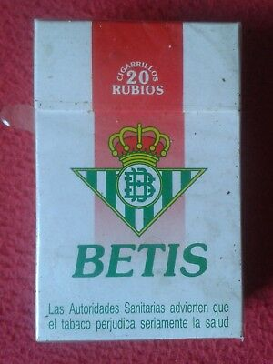 Paquete De 20 Cigarrillos Tabaco Spain Old Tobacco Package Cigarettes Real Betis
