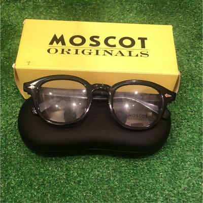 fbe9d385de368 Moscot Originals Glasses Matte Black Frame Eyewear Men Rare Fashion Vintage  F s