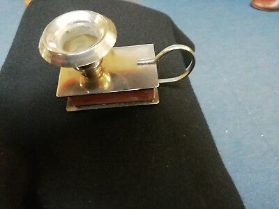 Candleholder With Matchbox Compartment.Desk