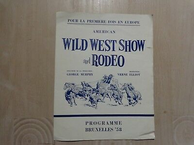 World Fair 1958 Program first American Wild West Show Rodeo Europe Casey Tibbs