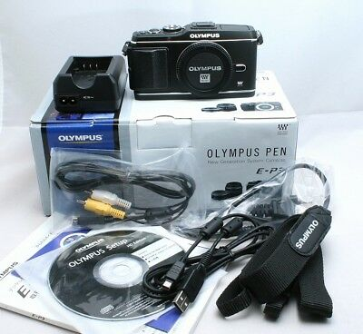 Excellent+++ Olympus PEN E-P3 12.3MP Digital Camera Black Body Only from Japan