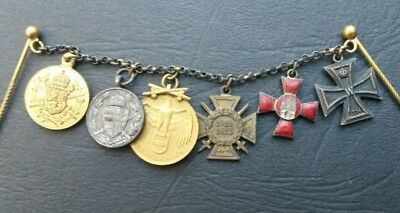 Superb Great War Imperial German Iron Cross medal group of six miniature medals