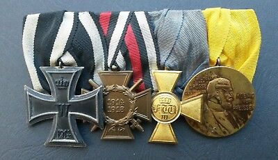 Imperial German / Prussian Great War Iron Cross mounted group of four medals