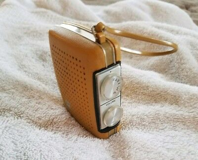 Vintage Working PRECOR 550 Yellow Pocket AM Transistor Radio