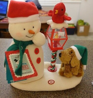 Hallmark 2013 Merry Carolers Trio Jingle Pals Snowman Music Motion Lights NWT