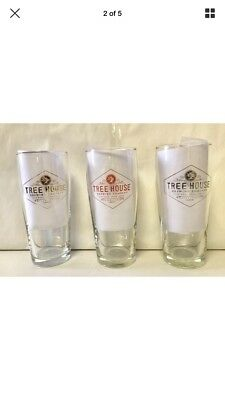 Tree House Brewing  **NEW LOGO WILLI GLASSES** GOLD, PLATINUM, SALMON