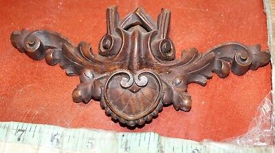 vintage black forest carved wood decorative piece wood antique piece small