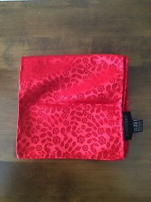 Duchchamp London Red Pocket Silk Pochette Handkerchief