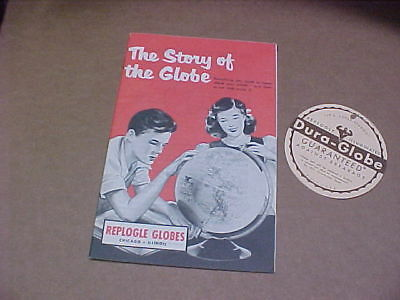 The Story Of The Globe How To Use Replogle Globe 1954 and globe guarantee tag