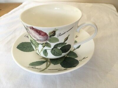 Roy Kirkham Fine Bone China Large Jumbo Breakfast Cup & Saucer - Redoute Roses