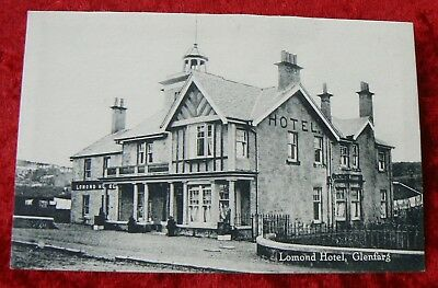 "Old postcard showing a view of the ""Lomond Hotel, Glenfarg"""