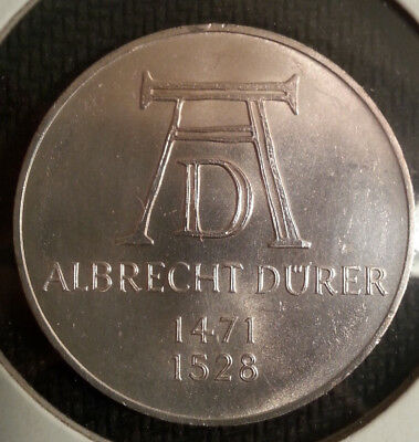 1971-D Germany 5 Mark Silver Coin Durer