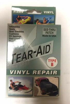 Tear-Aid Vinyl Repair Patch Kit Type B Clear seats inflatables liner DBOXB100