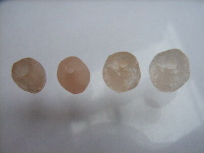 4 Ancient Neolithic Rock Crystal Beads, Stone Age, VERY RARE !!