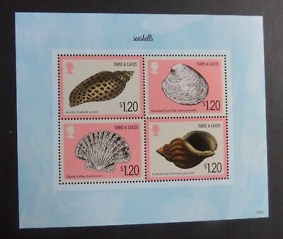 Turks & Caicos 2014 Sea Shells seashells MS1934  MNH UM unmounted mint