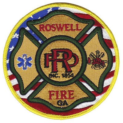 Georgia - NEW City of Roswell Fire Dept Patch GA
