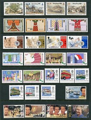 China Hong Kong GB QEII selection of 28 x stamps Unmounted Mint MNH U/M (11)