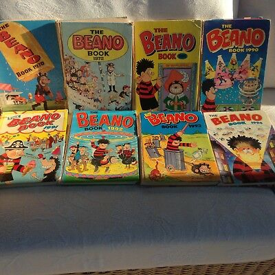 Vintage BEANO Annuals: 1970-2009 18 in total!