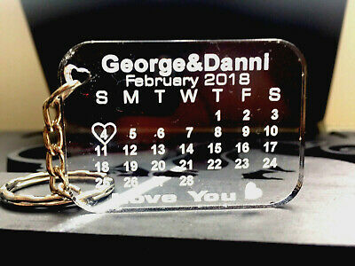 Calendar keychain,Personalised,Customize your text,word,for every occasion gift