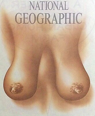 Original Vintage 1976 National Geographic Female Chest Hot Peel Iron On Transfer