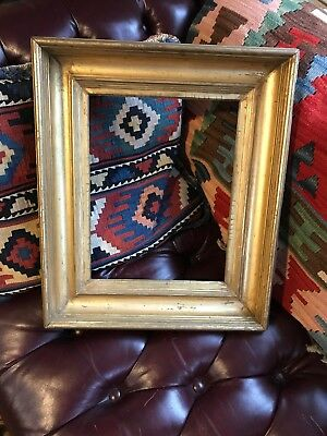 Antique Gold Gilt Picture Frame (fits 13x10 painting) 1800s 19th Century Wide