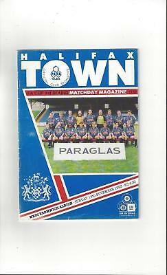 Halifax Town v West Bromwich Albion FA Cup Football Programme 1993/94