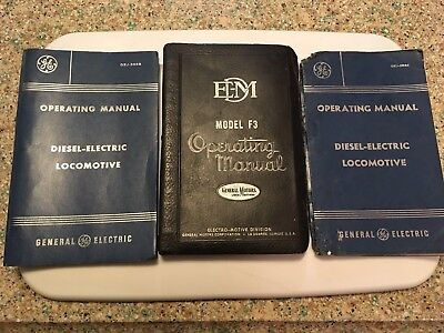 Lot Of 3 Locomotive Manuals From A Western Pacific Engineer's Collection