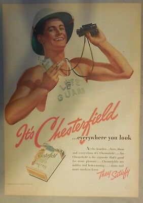 Chesterfield Zigarette Anzeige: Everywhere You Look ! Tabloid Seite 1939
