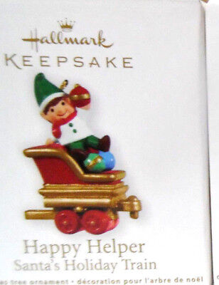 HALLMARK 2011 HAPPY HELPER Miniature Santas Holiday Train Ornament NEW