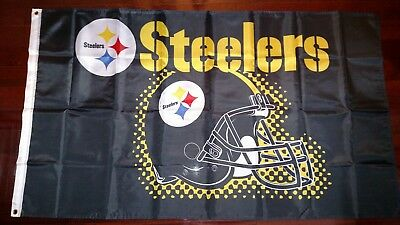 Pittsburgh Steelers 3x5 Flag. US seller. Free shipping within the US