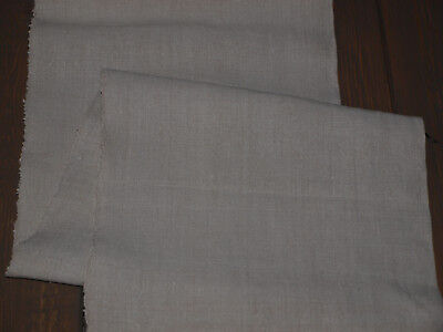 8 yards Antique Old Organic Natural Linen Flax Handwoven Homespun Fabric