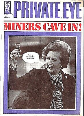 Private Eye Mag # 606  8 March 1985  WITHDRAWN EDITION - Cecil Parkinson Scandal