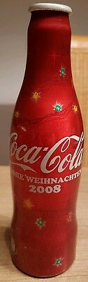 nice coca cola alu bottle Christmas 2008 from Austria.  Very rare!! Empty bottle