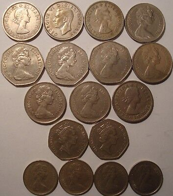 Great Britain Uk  Mixed Dates Lot Of 17 Coins