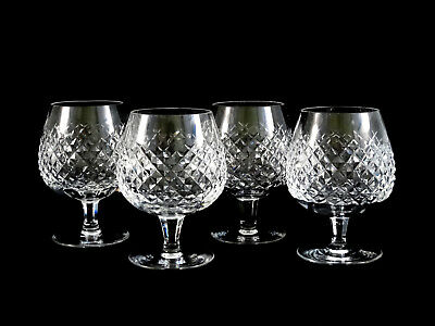 Waterford Crystal Alana Brandy Snifters Glasses Set of 4