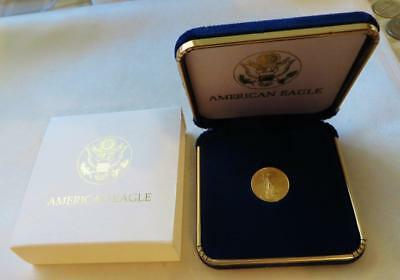 Fresh 1997 $5  1/10 Ounce Gold Eagle In U.S. Mint Presentation Case, Free Ship.