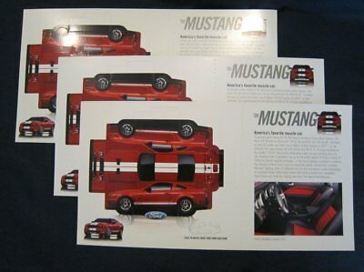 "Shelby GT500 ""Paper Model"" OEM Ford Unveil Handout, Quantity of 3 SVT FRPP 5.4"