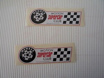BALDWIN/MOTION SuperCar  vintage 1960s/1970s decal/stickers-drag racing -pair