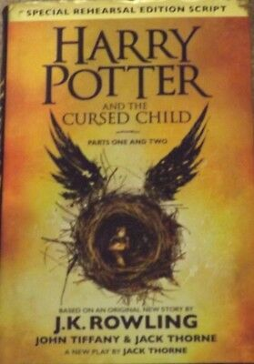 1st ED HARRY POTTER & THE CURSED CHILD HARDBACK REHEARSAL EDITION SCRIPT 1 & 2