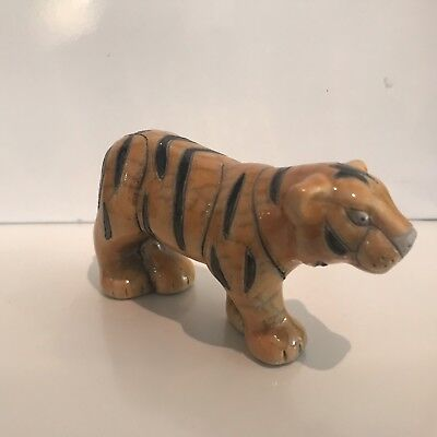 Raku Pottery Animal TIGER Figurine - Hand Made In South Africa