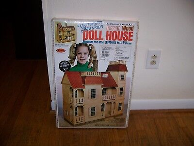 Arrow VICTORIAN MANSION DREAM WOOD DOLL HOUSE KIT No. 702, Dollhouse, Sealed !