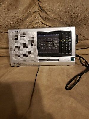 Sony ICF-SW11 FM SW MW LW 12 Band Receiver Portable Radio Worldband