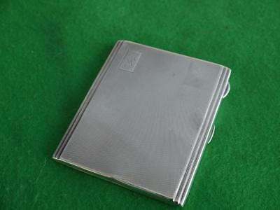 Superb Vintage Art Deco Slimline Solid Sterling Silver Hm 1935 Cigarette Case