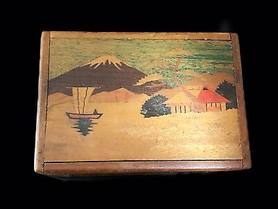 * RARE * Vintage Japanese Box,  IT IS A PUZZLE ~  MUSICAL & JEWELRY BOX ~ 2 Step