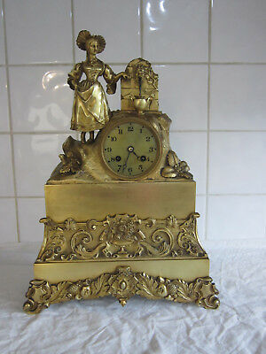 Spectacular French Brass Bell Chiming Clock Circa-Silk Suspension- Circa 1850