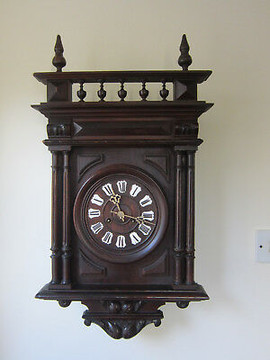 Stunning Mid-Sized Continental Chiming Wall Clock-Junghans -Circa 1900