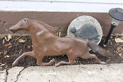 "Vintage / Antique Copper Weathervane 30"" Running Horse Folk Art Barn Shed Farm"