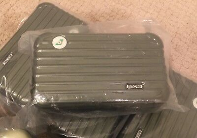 New Collectible Rimowa Amenity Kit Case - EVA AIR - Dark Green Color