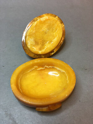 Natural Old Yellow Antique Butterscotch Baltic Amber Jewelry Box