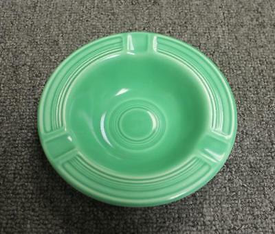 """Vintage FIESTA Green Ashtray Unmarked (7 Rings) Early 5.5"""" NICE"""